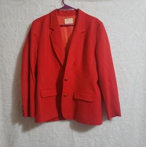 Vintage Pendleton red  suit skirt size 12